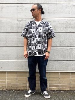 TOKYO HARAJUKU店のKEITAROさんのEDWINの【EDWIN 60周年限定】 半袖シャツを使ったコーディネート