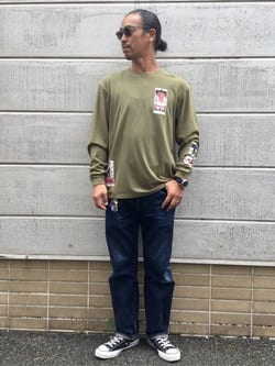 TOKYO HARAJUKU店のKEITAROさんのEDWINの【SALE】【コンセプトショップ限定】EDWIN EUROPE TAROT DECK 2 TEEを使ったコーディネート