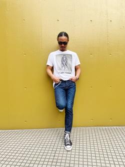 TOKYO HARAJUKU店のKEITAROさんのEDWINの【コンセプトショップ限定】SLIM TAPERED 【レングス81.5cm】を使ったコーディネート
