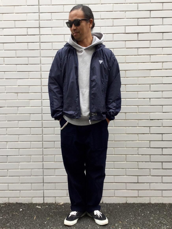 TOKYO HARAJUKU店のKEITAROさんのEDWINの【ガレージセール】【コンセプトショップ限定】F.L.E NAVY PACK  LEVEL4 LIGHT JACKETを使ったコーディネート