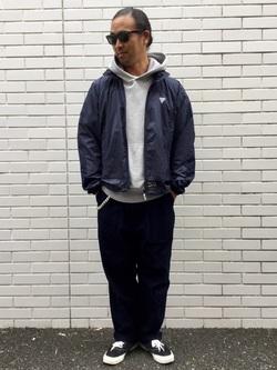 TOKYO HARAJUKU店のKEITAROさんのEDWINの【コンセプトショップ限定】F.L.E NAVY PACK  LEVEL4 LIGHT JACKETを使ったコーディネート