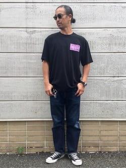 TOKYO HARAJUKU店のKEITAROさんのEDWINの【SALE】【コンセプトショップ限定】EDWIN EUROPE PRO HEALER TEEを使ったコーディネート