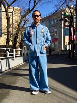 TOKYO HARAJUKU店のKEITAROさんのEDWINの【EDWIN x KIDILL x WINSTON SMITH】COVER ALLを使ったコーディネート