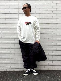 TOKYO HARAJUKU店のKEITAROさんのEDWINの【コンセプトショップ限定】EDWIN×ZOO YORK PRINT PANTSを使ったコーディネート