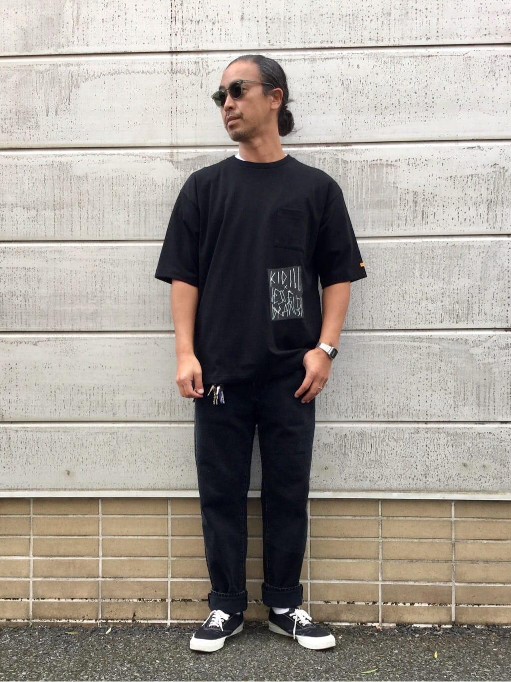TOKYO HARAJUKU店のKEITAROさんのEDWINの【EDWIN x KIDILL x JESSE DRAXLER】BIGFIT T SHIRT PT2を使ったコーディネート