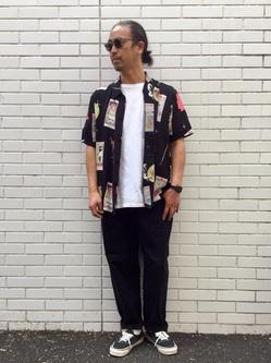 TOKYO HARAJUKU店のKEITAROさんのEDWINの【コンセプトショップ限定】EDWIN EUROPE TAROT DECK SHIRTを使ったコーディネート