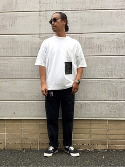 TOKYO HARAJUKU店のKEITAROさんのEDWINの【EDWIN x KIDILL x JESSE DRAXLER】BIGFIT T SHIRT PT1を使ったコーディネート