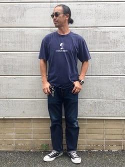 TOKYO HARAJUKU店のKEITAROさんのEDWINの【SALE】【コンセプトショップ限定】EDWIN EUROPE INNER SELF TEEを使ったコーディネート