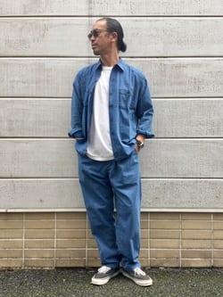 TOKYO HARAJUKU店のKEITAROさんのEDWINの終了【コンセプトショップ限定】INDIGO GARMENTS シアサッカーパンツを使ったコーディネート