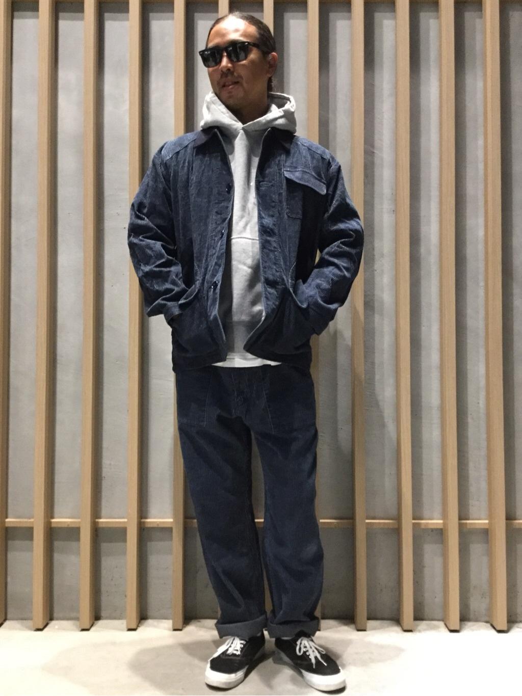 TOKYO HARAJUKU店のKEITAROさんのEDWINの【コンセプトショップ限定】INDIGO GARMENTS HUNTING JACKETを使ったコーディネート