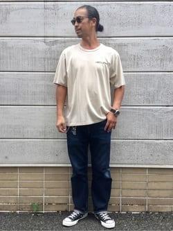TOKYO HARAJUKU店のKEITAROさんのEDWINの【SALE】【コンセプトショップ限定】EDWIN EUROPE SOUVENIR FROM JAPAN 2 TEEを使ったコーディネート