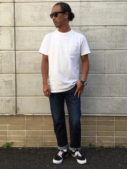 TOKYO HARAJUKU店のKEITAROさんのEDWINの【コンセプトショップ限定】REGULER STRAIGHT 【レングス76.5cm】を使ったコーディネート