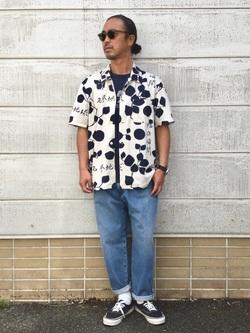 TOKYO HARAJUKU店のKEITAROさんのEDWINの【コンセプトショップ限定】EDWIN EUROPE MOMENT OF BLISS SHIRTを使ったコーディネート
