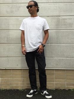 TOKYO HARAJUKU店のKEITAROさんのEDWINの【コンセプトショップ限定】REGULER TAPERED 【レングス77cm】を使ったコーディネート