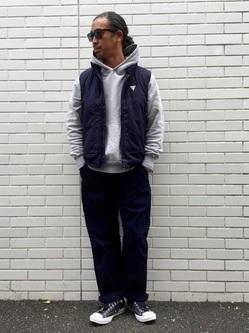 TOKYO HARAJUKU店のKEITAROさんのEDWINの【Winter sale】【コンセプトショップ限定】F.L.E NAVY PACK  LEVEL7 VESTを使ったコーディネート