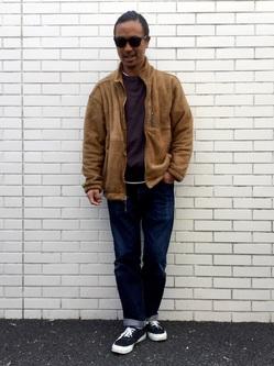 TOKYO HARAJUKU店のKEITAROさんのEDWINの【コンセプトショップ限定】CREW NECK SWEAT SHIRTSを使ったコーディネート
