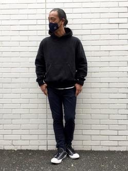TOKYO HARAJUKU店のKEITAROさんのEDWINのジャージーズ スリムテーパード【エントリーモデル】を使ったコーディネート