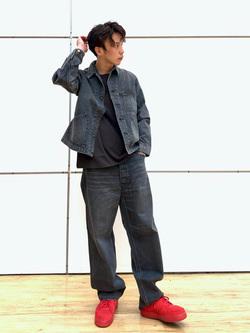 エスパル仙台店のすがきよさんのLeeの【101project】191-J  ワークジャケットを使ったコーディネート