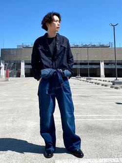 エスパル仙台店のすがきよさんのLeeのバンドカラーシャツ/長袖(デニム)を使ったコーディネート