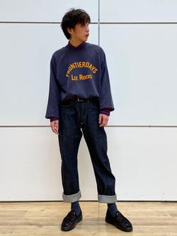 エスパル仙台店のすがきよさんのLeeの【Archives】WWII 101 COWBOY PANTSを使ったコーディネート