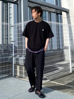エスパル仙台店のすがきよさんのLeeの【SALE】【鹿の子素材】ワンポイント 半袖Tシャツを使ったコーディネート