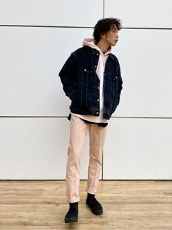 エスパル仙台店のすがきよさんのLeeのBLACK RIDERS デニムジャケットを使ったコーディネート