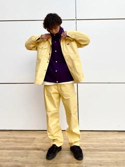 エスパル仙台店のすがきよさんのLeeの【セットアップ対応】ロコジャケット/カバーオールを使ったコーディネート