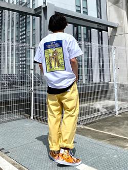 エスパル仙台店のすがきよさんのLeeのバックプリント 半袖Tシャツを使ったコーディネート