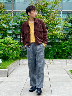 エスパル仙台店のすがきよさんのLeeの【セットアップ対応】チェトパ ジャケットを使ったコーディネート