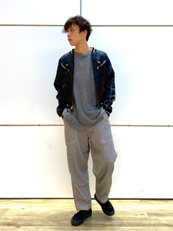 エスパル仙台店のすがきよさんのLeeの【SALE】USED加工 半袖Tシャツを使ったコーディネート