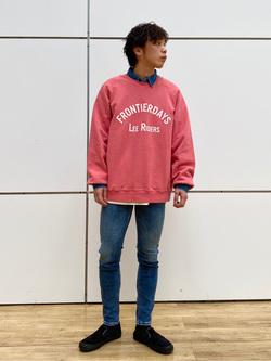 エスパル仙台店のすがきよさんのLeeのワークシャツ 長袖を使ったコーディネート