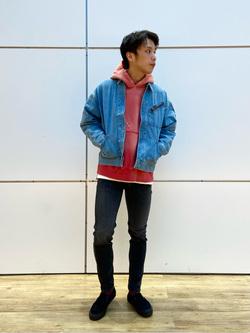 エスパル仙台店のすがきよさんのLeeの91B デニムジャケットを使ったコーディネート