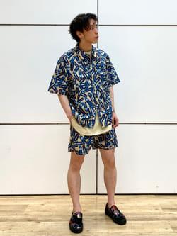 エスパル仙台店のすがきよさんのLeeの【SALE】【セットアップ対応】Lee総柄 リゾートシャツを使ったコーディネート