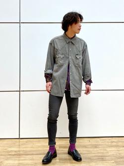 エスパル仙台店のすがきよさんのLeeのBLACK RIDERS デニムシャツを使ったコーディネート