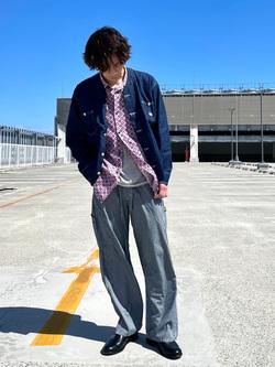 エスパル仙台店のすがきよさんのLeeの【軽くて涼しい】ライトウエイト エンジニアジャケット/デニムジャケットを使ったコーディネート