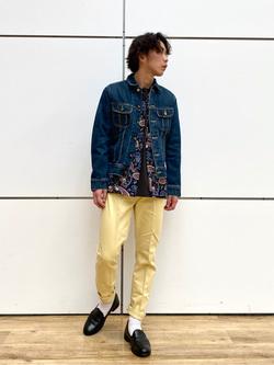 エスパル仙台店のすがきよさんのLeeの101J デニムジャケットを使ったコーディネート