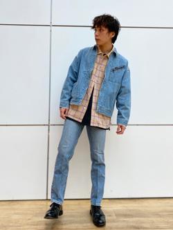 エスパル仙台店のすがきよさんのLeeの【再値下げ Winter sale】91B デニムジャケットを使ったコーディネート