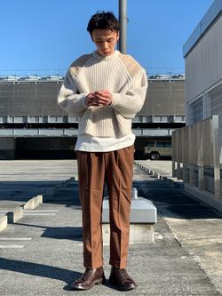エスパル仙台店のすがきよさんのLeeのミリタリー パッチワークセーターを使ったコーディネート