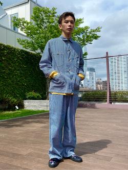 エスパル仙台店のすがきよさんのLeeのカバーオールジャケットを使ったコーディネート