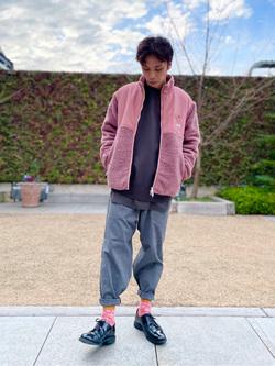 エスパル仙台店のすがきよさんのLeeの【ユニセックス】フリースジップアップジャケットを使ったコーディネート