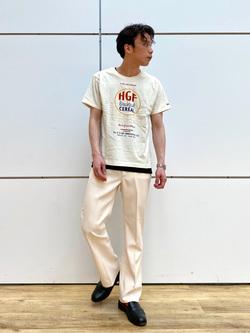 エスパル仙台店のすがきよさんのLeeのロゴモチーフプリント Tシャツを使ったコーディネート