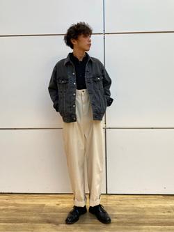 エスパル仙台店のすがきよさんのLeeのバンドカラーシャツ/長袖を使ったコーディネート