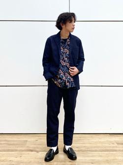 エスパル仙台店のすがきよさんのLeeの【セットアップ対応】ジャケットを使ったコーディネート