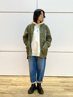 エスパル仙台店のmisaさんのLeeの【再値下げ Winter sale】【イージーな穿き心地】バギーワイド テーパードパンツを使ったコーディネート