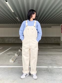 エスパル仙台店のmisaさんのLeeのワンポイントロゴ刺繍スウェット/トレーナー【ユニセックス】を使ったコーディネート