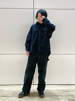 エスパル仙台店のmisaさんのLeeの【ユニセックス】DUNGAREES ペインターパンツを使ったコーディネート