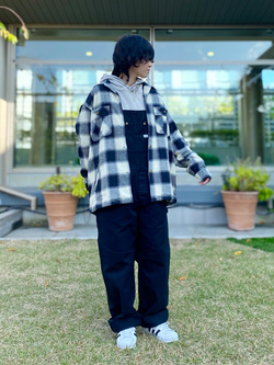 エスパル仙台店のmisaさんのLeeの【Winter sale】【さらっと羽織れる】シャツジャケットを使ったコーディネート