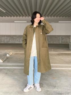 エスパル仙台店のmisaさんのLeeの【直営店・WEB限定】ビッグポケット シャツジャケットを使ったコーディネート