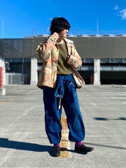 エスパル仙台店のmisaさんのLeeのパッチワーク ボアジャケットを使ったコーディネート