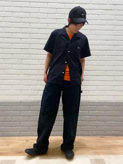 エスパル仙台店のmisaさんのLeeの終了【サマーセール】オープンカラーシャツ 半袖(POPLIN WASHER)を使ったコーディネート